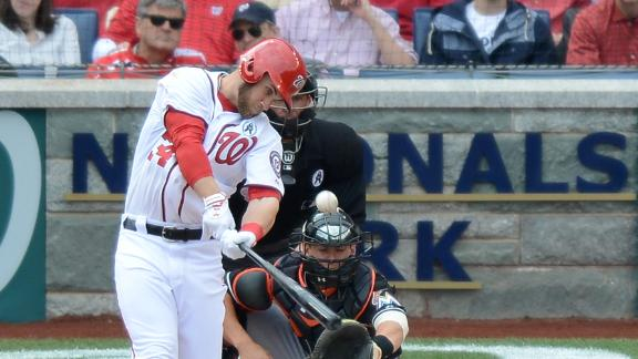 Video - Harper Homers Twice In Nats' Season Opener