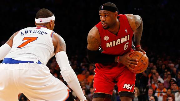 James, Wade, Chalmers out for Knicks-Heat