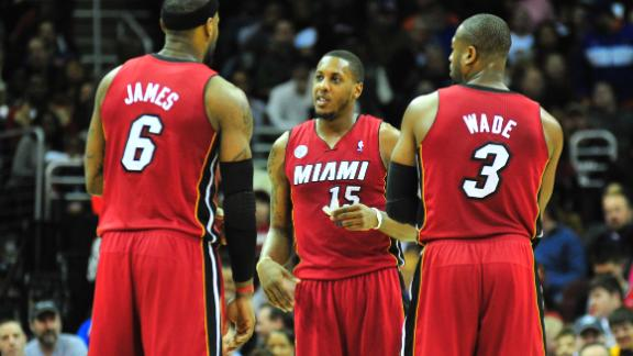 Video - LeBron, Wade, Chalmers Out Vs. Knicks
