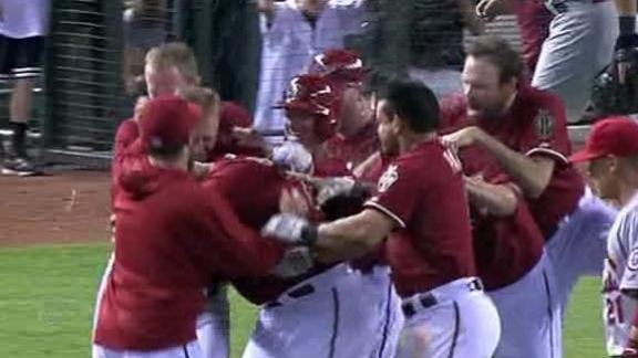 Video - D-backs Walk Off In The 16th