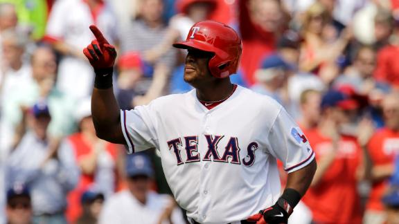 Rangers rally to top Angels in home opener