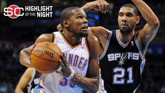 Video - Thunder Cruise Past Spurs 100-88