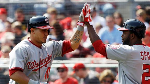 Nats recover, top Reds after blowing lead