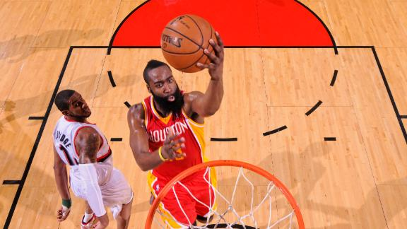 Video - Harden Propels Short-Handed Rockets