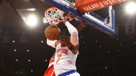 Knicks center Chandler out due to neck pain