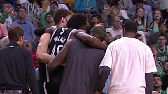 Nets' Wallace (heel) leaves game vs. Celtics