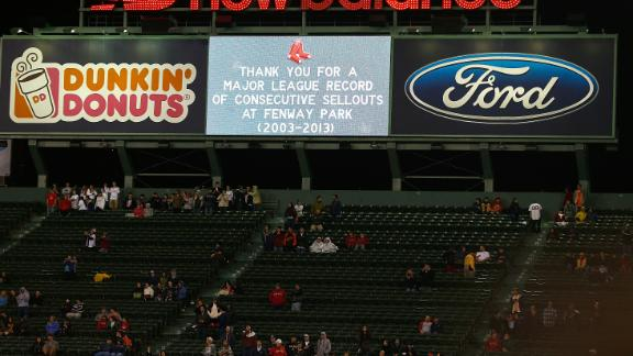 Video - Red Sox's Sellout Streak Ends