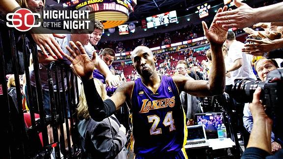 Video - Kobe's Big Night Propels Lakers