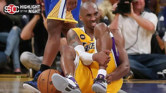 Video - Kobe Suffers Serious Injury In Lakers' Win