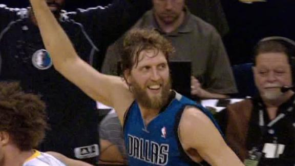 Dirk becomes 17th player with 25,000 points