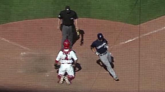 Video - Lucroy, Brewers Top Cardinals In 10