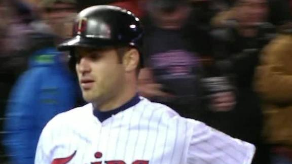 Mauer picks up four hits as Twins rip Angels