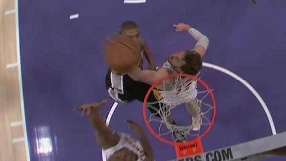 Video - Duncan Dunks Over Gasol