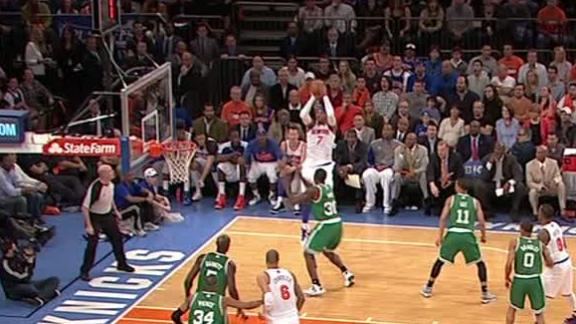 Video - Carmelo making the Celtics dizzy with his scoring