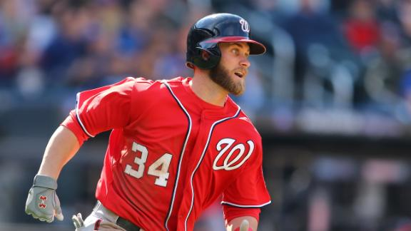 Harper homers twice as Nationals clip Mets
