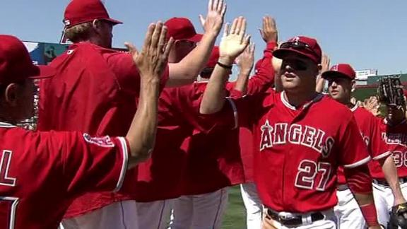 Trout's slam caps big first as Angels cruise