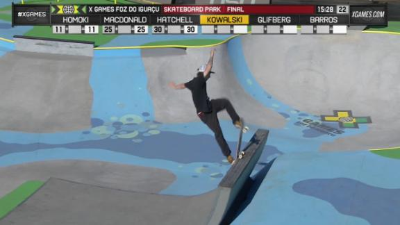 Video - Kevin Kowalski run 1 Men's Skateboard Park