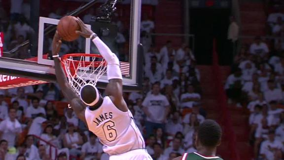 Video - LeBron, Heat Roll Past Bucks In Game 1
