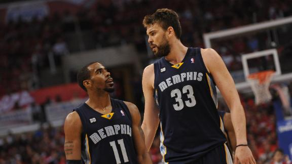 2013 NBA Playoffs-- Memphis Grizzlies drop tight game in Game 2