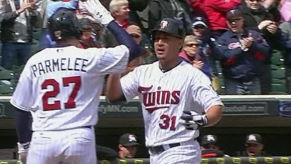 Arcia's 1st career HR backs Correia, Twins