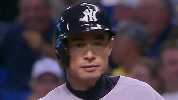 Ichiro's go-ahead single in 9th propels Yanks