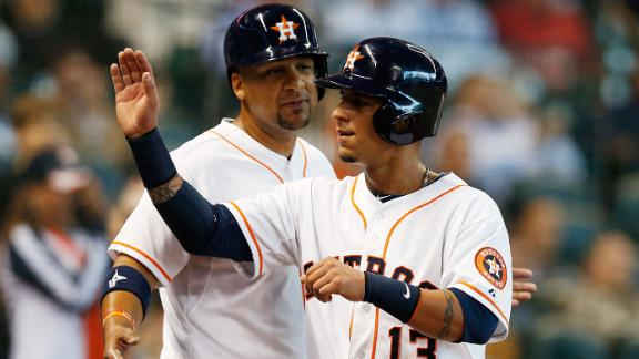 Astros belt 3 home runs to blister Mariners