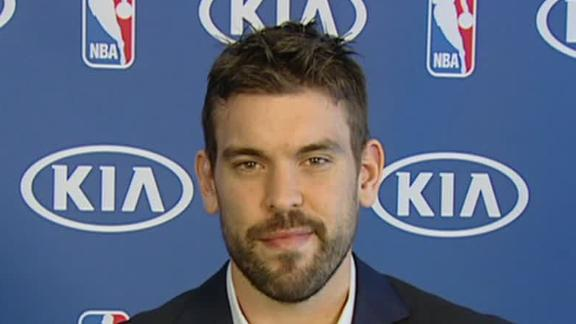 Video - Marc Gasol Named Defensive POY