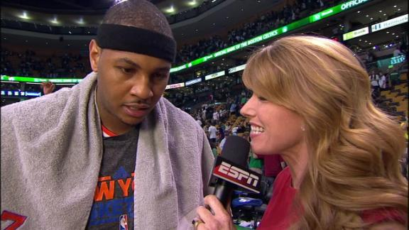Video - Carmelo After Knicks Cruise In Boston
