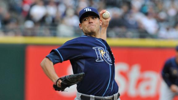 Rays' Moore strikes out 9, improves to 5-0