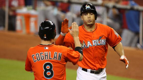 Video - Giancarlo Stanton Powers Marlins Past Cubs