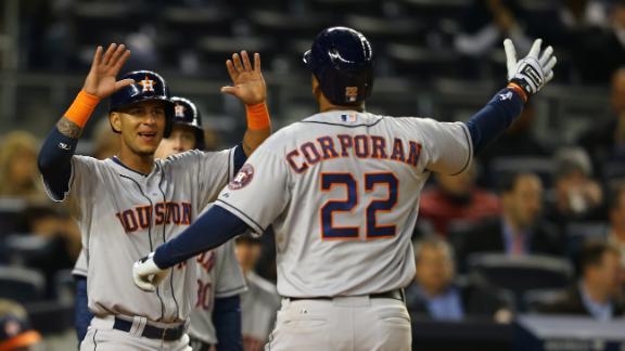 Astros pound Pettitte, cruise past Yankees
