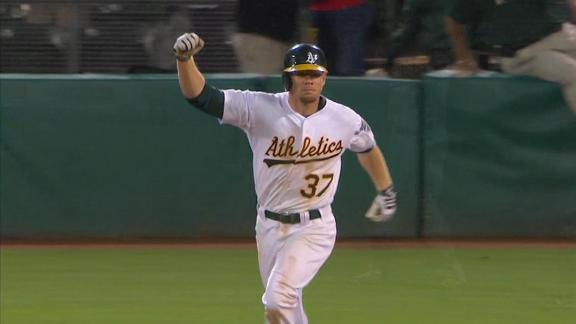 Video - Moss' Walk-Off Homer Lifts A's In 19th Inning