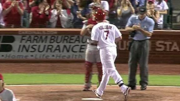 Video - Holliday's Homer Lifts Cardinals Past Reds