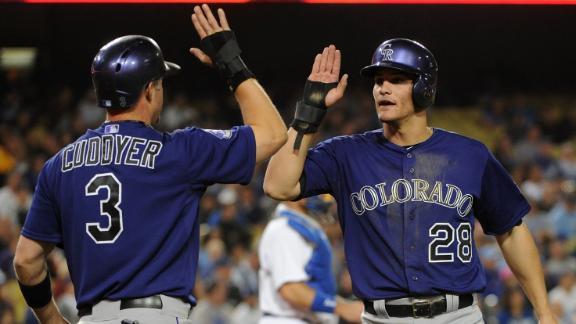 Prospect Arenado, Rockies pound Dodgers