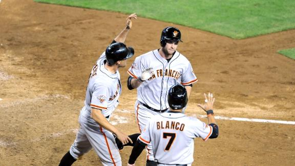 Belt HR keys Giants' comeback vs. Arizona