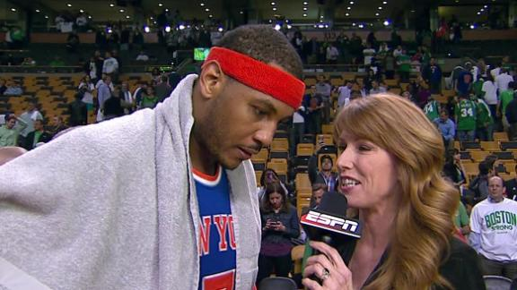 Video - Carmelo Anthony After The Knicks Advance