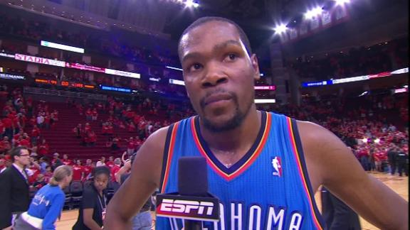 Video - Kevin Durant After The Thunder Advance