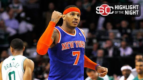 Melo: Shoulder 'popped in and out' in Game 6