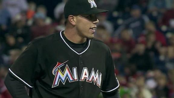 Fernandez dazzles in first win; Marlins one-hit Phils
