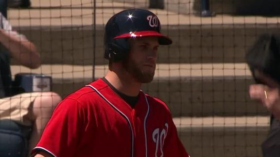 Harper ejected for arguing checked-swing call