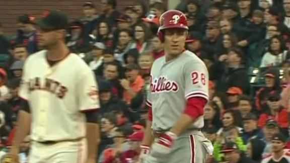 Video - Utley, Phillies Top Giants