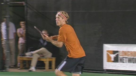 Texas Men's Tennis Player Hess-Olesen Earns NCAA Singles Bid