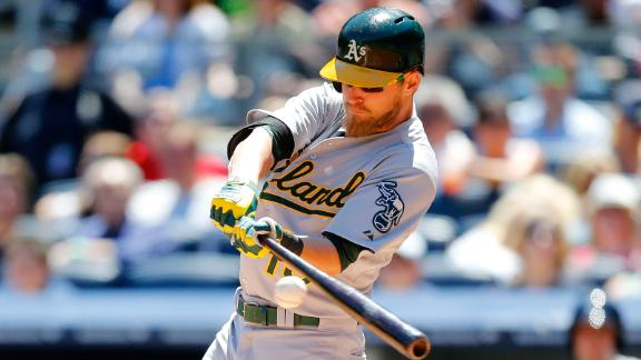 A's place OF Reddick on 15-day DL for wrist