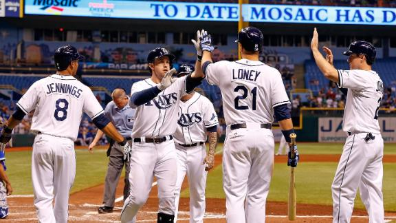 Rays' Moore improves to 6-0; Longoria 3 RBI