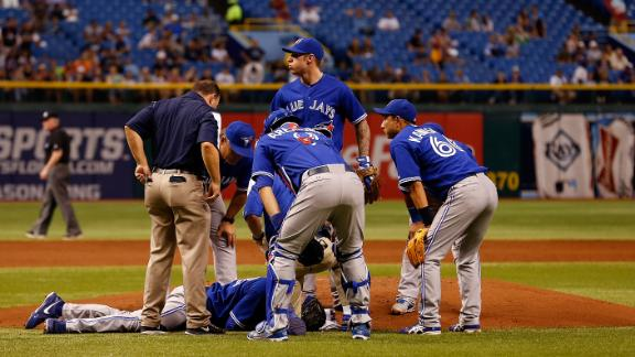 Happ discharged day after liner strikes head
