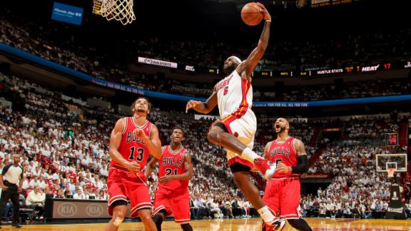 Video - Heat Cruise Past Bulls To Even Series