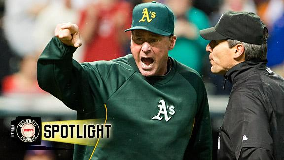 Athletics still miffed about blown call in 9th