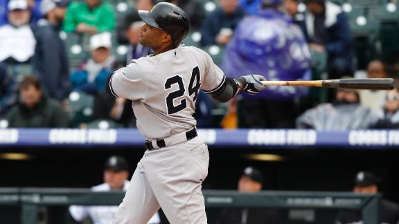 Video - Yankees Win After Rain Delay At Coors Field