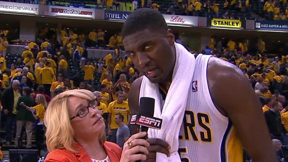 Hibbert lifts Pacers by Knicks, to 2-1 series lead
