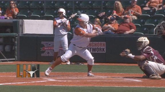 Texas Baseball Sweeps Doubleheader
